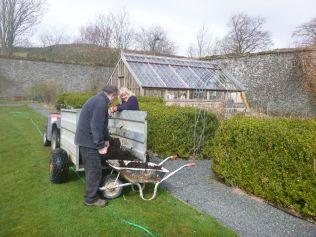 Shoveling manure - 04042015