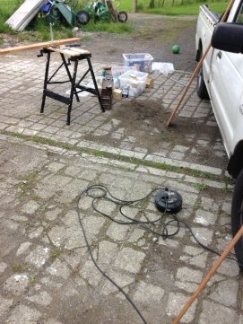 Potting shed work - July 2015 - SH
