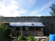 pointing above potting shed - 07082015