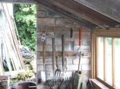 Tool racks in potting shed - 04082015
