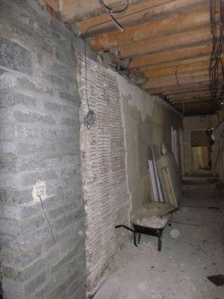 removing plaster - corridor - 12092015
