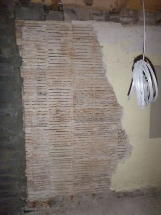 removing plaster in corridor - 17092015
