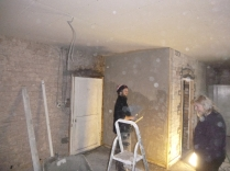 plasterers in kitchen 1 - 17112015