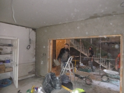 plastering - drawing room above doors - 19112015