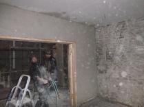 plastering - drwaing room above doors - 19112015