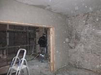 plastering - drwaing room above doors 2 - 19112015