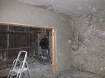 plastering - drwaing room above doors 2 - 19112015