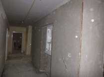 plastering in corridor 2 - 19112015