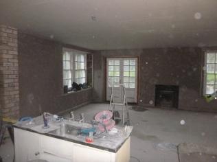 plastering in kitchen - 18112015