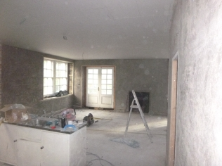 plastering in kitchen - 19112015