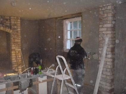plastering in kitchen - 20112015