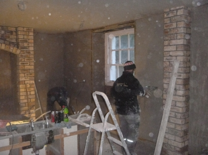 plastering in kitchen - 20112015
