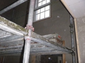 plastering - main hall - 20112015