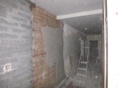 plastering on lath - corridor - 18112015