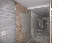 plastering on lath - corridor - 18112015