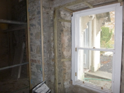 plastering prep - window by porch - 19112015