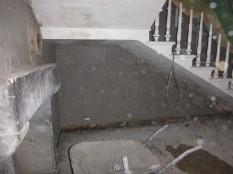 plastering - under stairs 2 - 19112015
