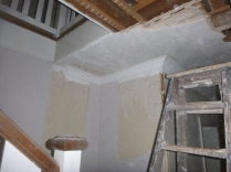 Ceiling & cornice by top stairs - 27022016