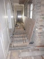 Plumbing in corridor 3 - 30012016