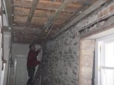 Building up walls in upstairs corridor 2 - 15032016
