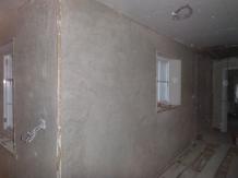 Lime plaster - upstairs corridor - 26032016