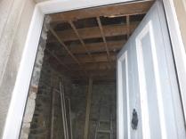 Porch ceiling down - 10032016