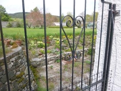 Alpine garden through gate - 17052016