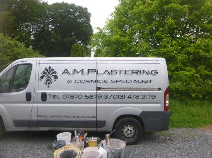 AM Plastering - van - 10062016