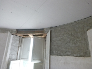PLastering in round room - 25062016