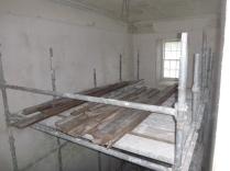 Reclaimed flooring on scaffold - BHS - 12062016