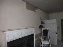 Lime plastering 10 - round room - 13072016