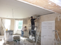 Lime plastering 12 - round room - 14072016
