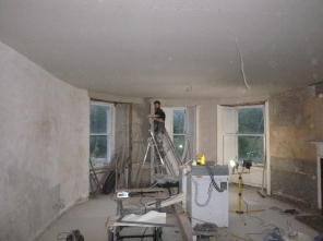 Lime plastering 17 -round room - 14072016