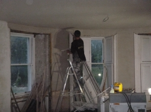 Lime plastering 18 - round room - 14072016