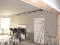 Lime plastering 19 - round room - 15072016