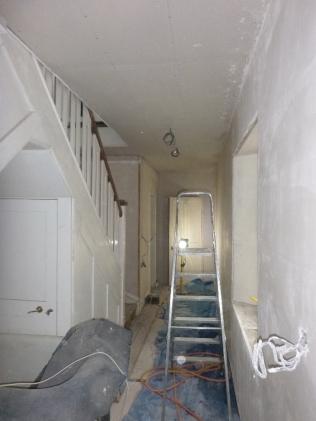 Lime plastering 5 - upstairs corridor - 13072016