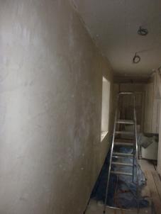 Lime plastering 7 - upstairs corridor - 13072016