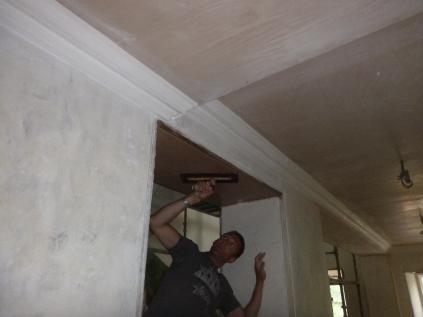 Plastering - main hall 2 - 21072016