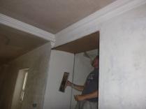 Plastering - main hall - 21072016