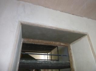 Plastering - main hall 3 - 21072016