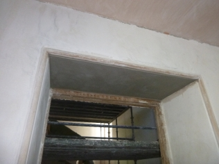 Plastering - main hall 3 - 21072016
