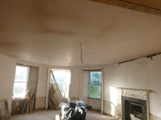 PLastering - round room - 02082016 - July