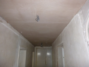 PLastering - upstairs corridor - 02082016 - July
