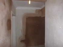 Back stairs plastering - 02032017