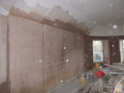 Playroom - plastering 1 - 05032017