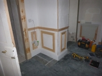 Joiners - panelling in hall 1 - 08042017