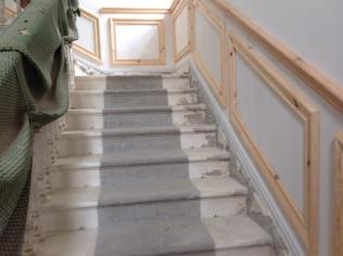 Main hall - skirting on stairs 2 - 18042017 - SH