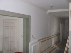 Panelling in main hall - 15052017