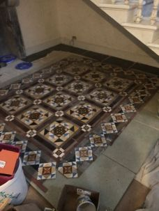 Cleaned victorian tiles - 01072017