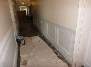 Downstairs corridor - decorating - 17092017